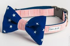 The Patriot Bow Tie Dog Collar