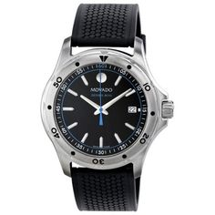 Movado Series 800 Black/Blue Dial Mens Watch