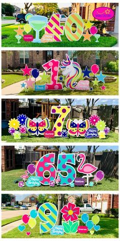 Check out some of our new oversized pieces! Happy Birthday Yard Signs, 90th Birthday Parties, Birthday Fun, Candy Christmas Decorations, Balloon Decorations, Graduation Diy, Button Crafts, Holidays And Events, Crafts For Kids