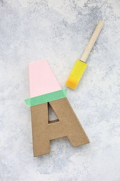 How to Make Colorful Wall Letters - Skip the expensive ones at the store! It's so easy and inexpensive to make your own wall letters! Playroom Wall Decor, Letter Wall Decor, Cute Room Decor, Kids Decor, Playroom Ideas, Letters For Kids, Diy Letters, Nursery Letters, Wood Letters Decorated