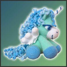 Amigurumi Pattern Crochet Peppermint Pegasus DIY Instant