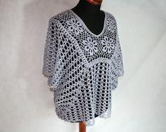 Crochet work: pattern of crochet poncho tunic (free)