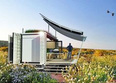 G-pod's Tiny Dwell Container Home expands to three times its size #interiors #interiordesign #architecture #decoration #interior #home #design #furniture #architect #homedecor #decoration #decor #prefab #smallhomes #compact #compactliving #shed #cabin #tagsforlikes #tinyhomes #tinyhouse #minimalist #minimalism #decorating #likeforlike #houseboat #chalet #container #containerhouse by prefabnsmallhomes