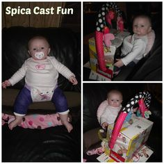 My daughter is in a Spica Cast for hip Dysplasia, This is what we came up with for playtime! #AdalynnNicole #SpicaCast #HipDysplasia