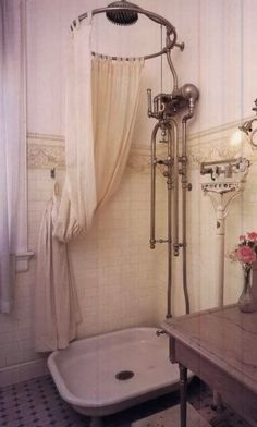 Old fashioned shower.