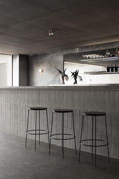Brutalist Bar At Locura Restaurant, Byron Bay, Australia Modern  Scandinavian Interior, Counter Design