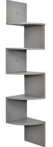 Greenco 5 Tier Wall Mount Corner Shelves Espresso Finish , L x W. Greenco 5 Tier Wall Mount Corner Shelves Espresso Finish , L x W x H. Corner Storage Shelves, Wall Mounted Corner Shelves, Corner Bookshelves, Wall Shelves, Bookcases, Corner Desk, Kitchen Storage, Floating Wall, Floating Shelves