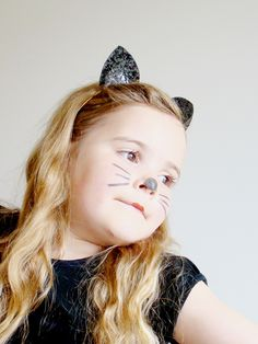 Glitter cat ear headbands Halloween Cat, Halloween Outfits, Cat Ears Headband, Alice Band, Cat Costumes, Glitter Fabric, Animal Ears, Catwoman, Hair Band