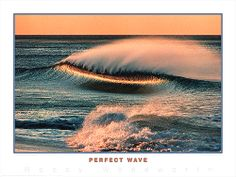 Surfing Perfect Wave Ocean Sunset Poster Print -Available at www.sportsposterwarehouse.com