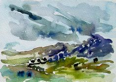 Sue Hodnett Abstract Landscape Painting, Abstract Watercolor, Watercolor And Ink, Landscape Art, Landscape Paintings, Watercolor Paintings, Abstract Art, Landscapes, Pen And Wash