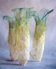 Makiko Wakisaka's art made from plant fiber.