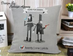 Twenty One Pilots Band Guns For Hands M Pillow Case One Side/Two Side
