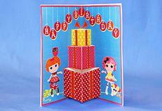 {free} printable Lalaloopsy pop up birthday card