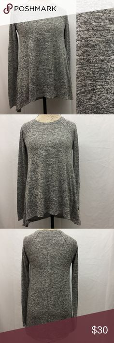 """Hollister Long Sleeve Top Hollister long sleeve heathered gray/black top. Excellent condition with no flaws. 73% Viscose 23% Polyester 4% Elastane. Size S. Armpit to armpit 16"""". Shoulder to bottom hem back 27 1/2"""", front 24 1/2"""". Hollister Tops"""