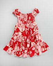 Ralph Lauren Childrenswear Smocked Ruffle Dress