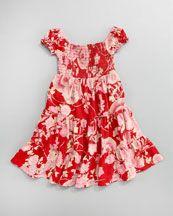 Ralph Lauren Childrenswear Smocked Ruffle Dress