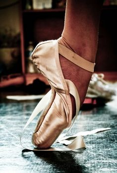 Wish my pointe shoes were as broken in as hers!  My bff's probably are exactly like that.
