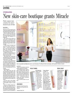Toronto, Yorkville-based Skincare Boutique (http://www.miracle10.com/boutique.cfm)  covered byToronto Star -  September 2011. #beauty #Toronto #skincare