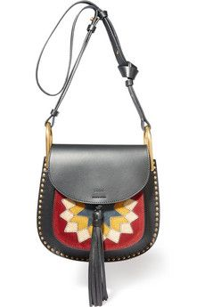 f422076515a5 Hudson Wonder Woman small leather and suede shoulder bag Chloe Hudson