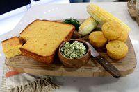 Baking expert, Allyson Bobbitt, shares a delicious savory summer recipe. Marilyn Denis Recipes, Jalapeno Cheddar Cornbread, Appetizer Recipes, Appetizers, Baking Recipes, Healthy Recipes, Fritters, Bread Baking, Summer Recipes
