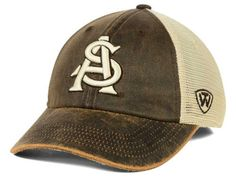 Arizona State Sun Devils Top of the World Brown Scat Mesh Adj Snap Hat Cap