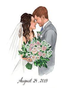 Wedding Dress Illustrations, Wedding Illustration, Illustration Vector, Portrait Illustration, Couple Illustration, Illustration Fashion, Art Illustrations, Fashion Illustrations, Wedding Drawing