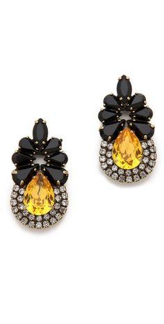 teardrop vintage inspired earrings