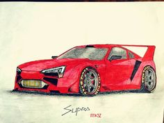 "#TOYOTA #SUPRA #MK5 designed by +MASTER OF DESASTER 99 [MOD99] ""This is how the next #Supra should look like!! How do… #toyota #supra #mkiv"