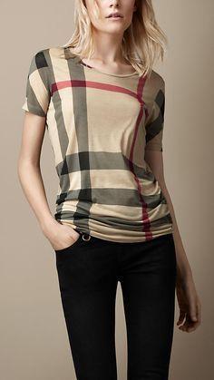 Check Jersey T-Shirt | Burberry