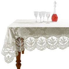 Yourtablecloth Heavy Duty Clear Vinyl Round Ed Tablecloth Table Cover Elasticized Great For Protecting Your Fine Tables And Ta
