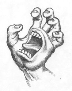 really cool drawings Creepy Sketches, Scary Drawings, Trippy Drawings, Dark Art Drawings, Art Drawings Sketches Simple, Pencil Art Drawings, Drawings With Sharpies, Drawings On Hands, Zombie Drawings