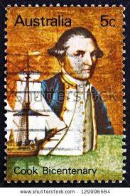"James Cook and ""Endeavour"". Australia Facts, Terra Australis, Map Compass, James Cook, Stamp Printing, Stamp Collecting, Postage Stamps, Explore, Prints"