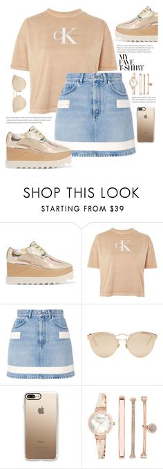 """""""Dress Up a T-Shirt"""" by bookthrills ❤ liked on Polyvore featuring STELLA McCARTNEY, Calvin Klein, Givenchy, Christian Dior, Casetify, Anne Klein and MyFaveTshirt"""