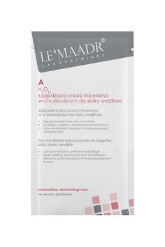 LE'MAADR  A  h2O24  Łagodząca woda micelarna w chusteczkach do skóry wrażliwej   Udoskonalona receptura, specjalnie dobrane składniki regenerujące naskórek  , szczególnie po nadmiernej ekspozycji słonecznej  Specjalistyczna woda micelarna do wszystkich typów skóry, zwłaszcza wrażliwej i suchej • łagodzi podrażnienia, zmywa makijaż • po pilingu, depilacji, zabiegach kosmetycznych  • aktywne składniki nawilżają i trwale poprawiają witalność skóry