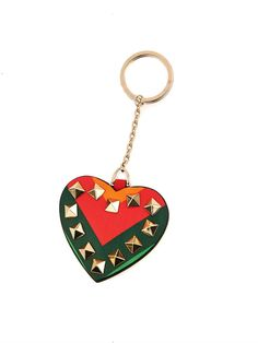 6a2230477c7 Valentino 1973 Rainbow Rockstud key ring Leather Keyring