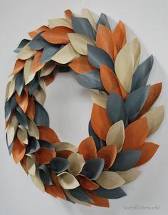 living room decor modern wreath spring wreath by weirdlittleworld, $26.00