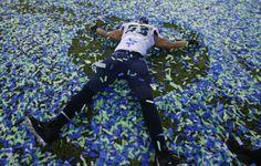 Malcolm Smith's Football Fantasy comes true. SB XLVIII MVP Feb 2 2014. Seattle Seahawks