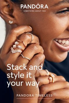 Elevate your everyday look with eye-catching jewelry you can stack and re-stack as the mood strikes. Pandora Rings, Stackable Rings, Timeless Elegance, Cute Casual Outfits, Mixed Metals, Everyday Look, Are You The One, Special Gifts, Jewerly