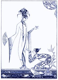 """Kay Nielsen - Red Magic, Aladdin and the Wonderful Lamp, """"She knew nothing of the value of the lamp"""", 1930"""
