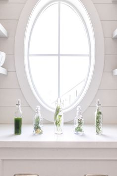 white gardens DIY: Herb Infused Vinegar & Chive Oil Jillian Harris DIY Herb Oil and Vinegar Stopping Breastfeeding, Cherry Season, Jillian Harris, Nail Effects, Cruelty Free Makeup, White Gardens, Led Weaning, Easy Diy Projects, Vinegar