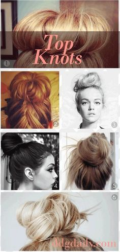 These buns are so hot right now, but do you know how to get that fashion shoot look? Try out these DIY Top knot buns. #haircut