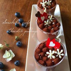 レシピあり!簡単過ぎてごめんなさい!!バレンタイン仕様チョコプリン   そらひかさんのお料理 ペコリ by Ameba - 手作り料理写真と簡単レシピでつながるコミュニティ -