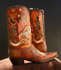 'American Ink' boots, Rocketbuster, Tx.