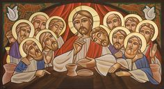 Coptic icon of the Last Supper