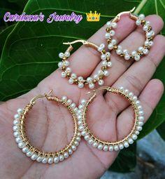 #acero#perlitas 😍 Beaded Jewelry Designs, Handmade Beaded Jewelry, Jewelry Patterns, Homemade Bracelets, Bijoux Diy, Beaded Earrings, Jewelry Crafts, Bridal Jewelry, Jewelery