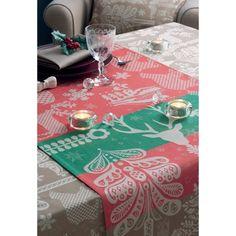 テーブルランナー クリスマス ディア カラフル