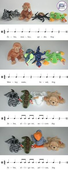 Sing. Teach. Love. Fun way to incorporate composition, rhythm, form and instruments using beanie babies in your elementary music classroom!