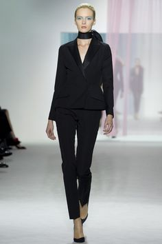 Classic black suit:  Dior, spring/summer 2013 collection.