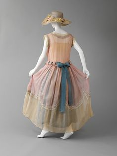 Vintage 1920s Jeanne Lanvin Silk dress