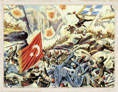 Θρυλική διάβαση των Στενών του Σαρανταπόρου 9-10 Οκτωβρίου 1912!. Τα είχαν οχυρώσει οι Γερμανοί για λογαριασμό των Τούρκων, βεβαιώνοντάς τους ότι ήταν …απόρθητα… Και πράγματι ήταν. Αλλά όχι για Έλληνες! Korean War, Vietnam War, World War I, Wwi, History, Painting, World War One, Historia, Painting Art